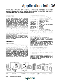 Determination of Carbamate Pesticides in Water